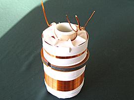 整列巻電磁コイル